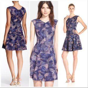 NWOT Rebecca Taylor Sonic Garden Flare Dress 4